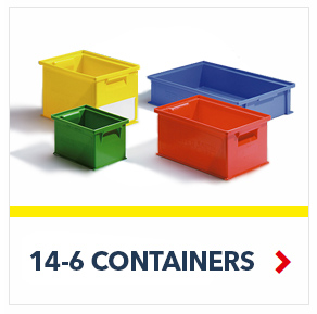 14/6 Stackable Containers for industrial and food processing applications, by SSI Schaefer