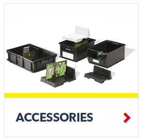 Schaefer Conductive Container Accessories for the storage of electronic components, by SSI Schaefer
