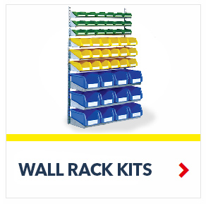 Wall Rack Bin System, by Schaefer Shelving