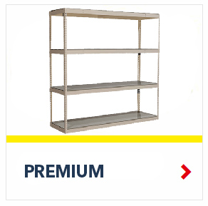 Premium Rivet Shelving for the storage of light loads, from SSI Schaefer
