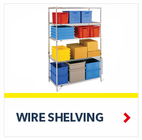 Chrome Wire Shelving units for Medical, Pharmaceutical, Retail and Store applications, from SSI Schaefer