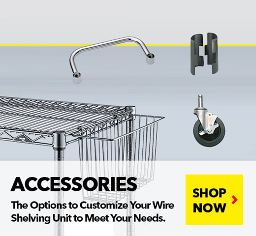 Wire Shelving Accessories for Units, Trucks and Carts, from SSI Schaefer