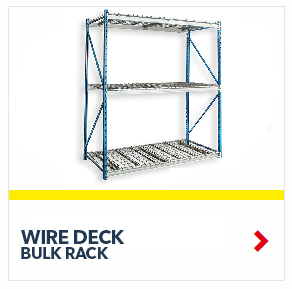 Bulk Rack Shelving units with wire decking for all manual storage requirements on your Warehouse or Distribution Center, from SSI Schaefer