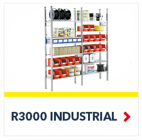 R3000 Heavy Duty Shelving units for all your Warehouse and Industrial heavy Storage requirements, by SSI Schaefer