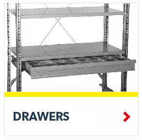 Drawers for R3000 Heavy Duty Shelving Units, by SSI Schaefer