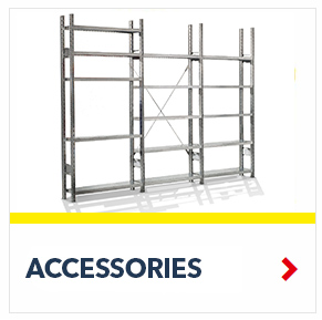 Accessories for R3000 & R4000 Heavy Duty Shelving Units, by SSI Schaefer
