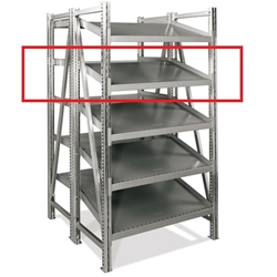 Double Deep Straight-Tilted Extra Shelves On-Line Shelving by SSI Schaefer