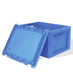 LTB Stackable Containers with attached Lid by SSI Schaefer