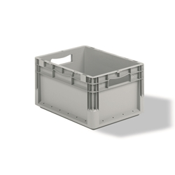 Light Duty Straight Wall Containers can store more product due to its light weight, by SSI SCHAEFER