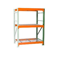 Bulk Rack Shelving with Wire Decking Add-on from SSI Schaefer