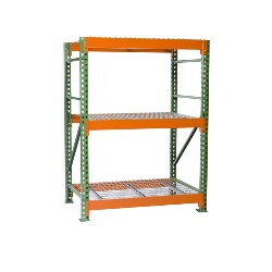Bulk Rack Shelving with Wire Decking Starter from SSI Schaefer