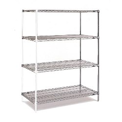 Chrome Wire Shelving Add-on Units from SSI Schaefer