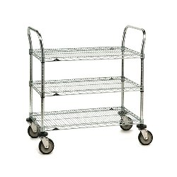 Chrome Wire Shelving Carts from SSI Schaefer