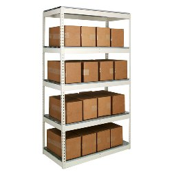 Light Duty Steel Shelving Units with Steel Decking from SSI Schaefer