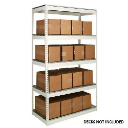 Light Duty Steel Shelving Units with no decking from SSI Schaefer