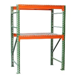 Pallet Rack Shelving with Wire Decking Starter from SSI Schaefer