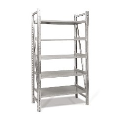 Single Deep Straight Starter On-Line Shelving by SSI Schaefer