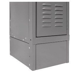 Steel Locker Front Base Grey from SSI Schaefer