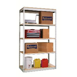 Super Economy Steel Shelving Units with Particle Board Decking from SSI Schaefer