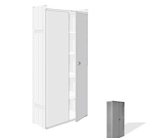 "Looking: 85""H x 50""W Steel Door Set for R3000 Industrial Shelving 