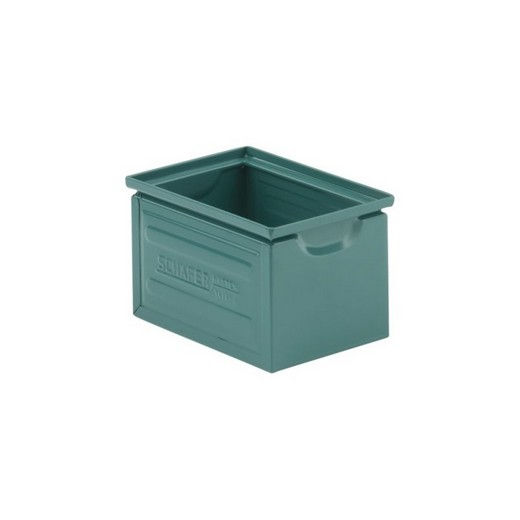 "Looking: 08""L x 06""W x 05""H 14-6 Straight Wall Stackable Steel Green 