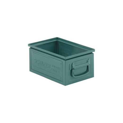 "Looking: 13""L x 09""W x 06""H 14-6 Straight Wall Stackable Steel Green 