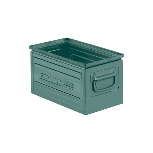 "Looking: 14""L x 08""W x 07""H 14-6 Straight Wall Stackable Steel Green 