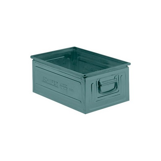 "Looking: 19""L x 13""W x 08""H 14-6 Straight Wall Stackable Steel Green 