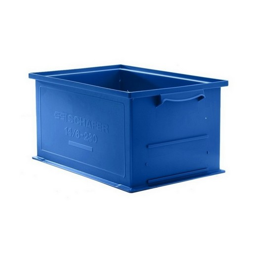"Looking: 19""L x 13""W x 05""H 14-6 Straight Wall Stacking Plastic Bins 