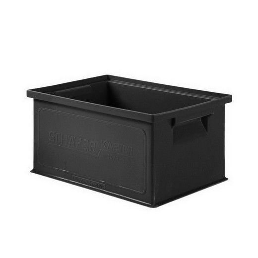 "Looking: 09""L x 13""W x 06""H 14-6 Straight Wall Stacking Conductive Containers 