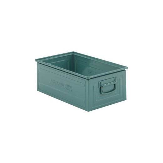 "Looking: 20""L x 12""W x 08""H 14-6 Straight Wall Stackable Steel Green 