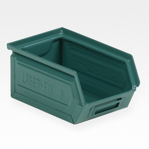 "Looking: 06""L x 04""W x 03""H 14-7 LF Hooper Open Front Steel Green 