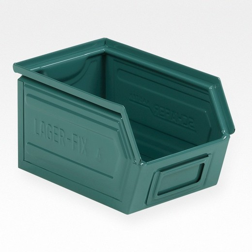 "Looking: 09""L x 06""W x 05""H 14-7 LF Hooper Open Front Steel Green 