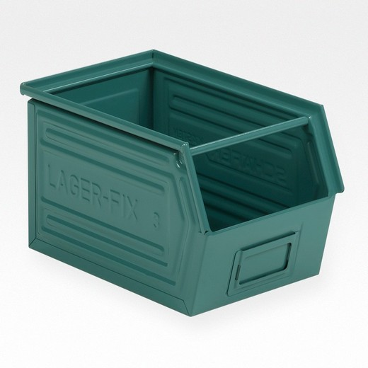 "Looking: 14""L x 08""W x 08""H 14-7 LF Hooper Open Front Steel Green 