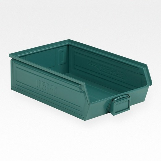 "Looking: 20""L x 12""W x 06""H 14-7 LF Hooper Open Front Steel Green 