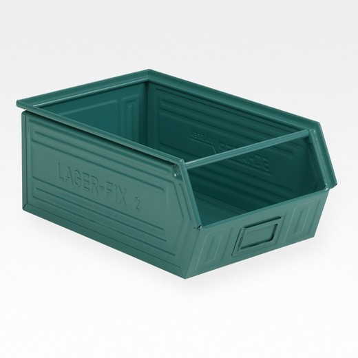 "Looking: 20""L x 12""W x 08""H 14-7 LF Hooper Open Front Steel Green 