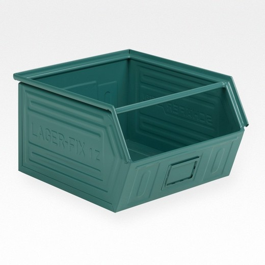 "Looking: 22""L x 19""W x 12""H 14-7 LF Hooper Open Front Steel Green 