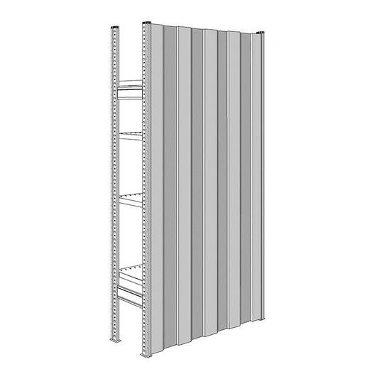 "Looking: 85""H x 36""D R3000 Shelving Solid Back Panels 