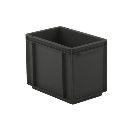 "Looking: EF Stackable Conductive Container Solid Base/Sides 12""L x 08""W x 09""H  