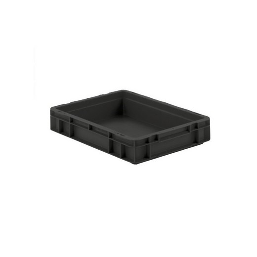 "Looking: EF Stackable Conductive Container Solid Base/Sides 16""L x 12""W x 03""H  