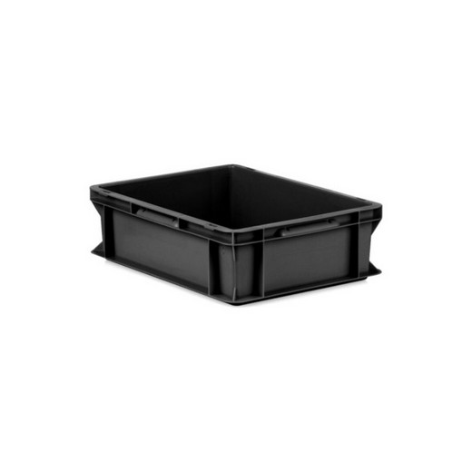 "Looking: EF Stackable Conductive Container Solid Base/Sides 16""L x 12""W x 05""H  