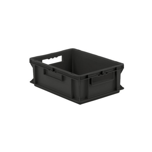 "Looking: EF Stackable Conductive Container Solid Base/Sides 16""L x 12""W x 06""H  