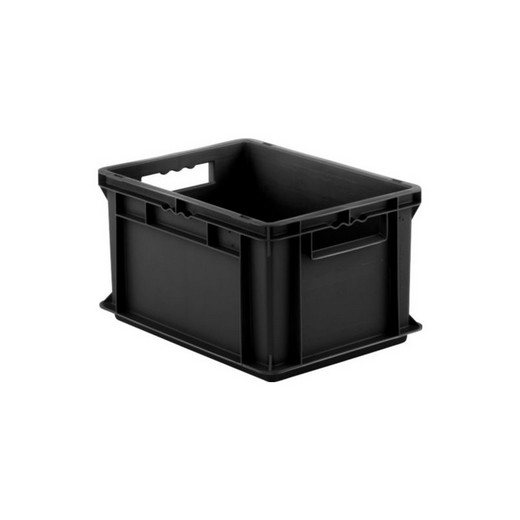 "Looking: EF Stackable Conductive Container Solid Base/Sides 16""L x 12""W x 09""H  