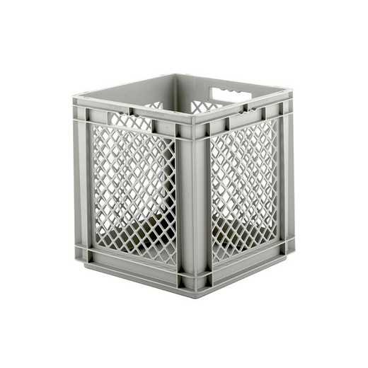 "Looking: EF stackable Container Solid Base/Mesh Sides  16""L x 16""W x 17""H  