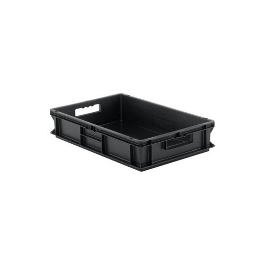 "Looking: EF Stackable Conductive Container Solid Base/Sides 24""L x 16""W x 05""H  