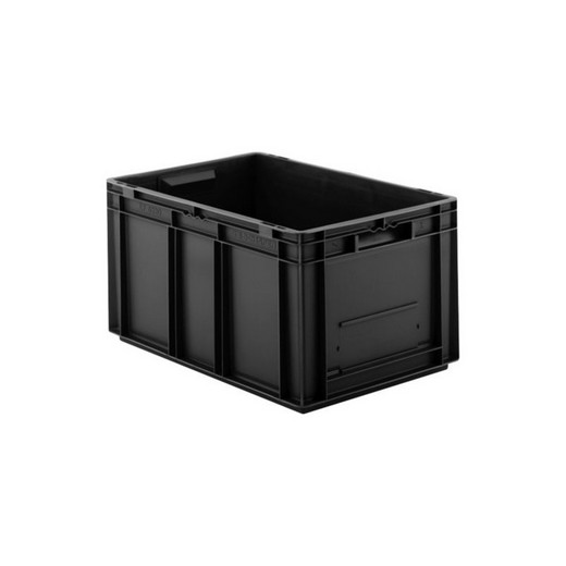 "Looking: EF Stackable Conductive Container Solid Base/Sides 24""L x 16""W x 13""H  