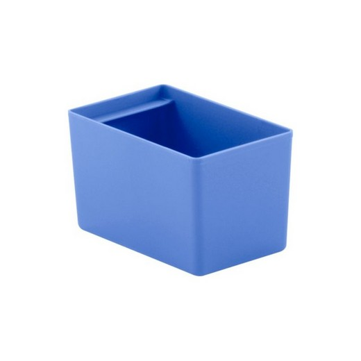 "Looking: 06""L x 03""W x 03""H  EK Plastic Insert Boxes Sub-Containers Blue 