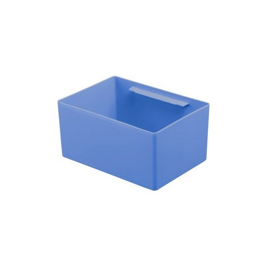 "Looking: 07""L x 05""W x 03""H  EK Plastic Insert Boxes Sub-Containers Blue 