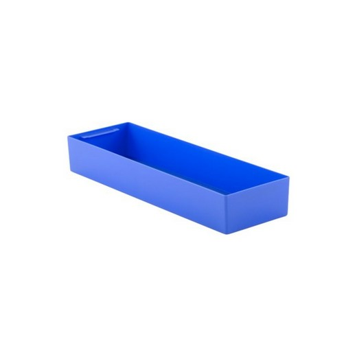 "Looking: 22""L x 08""W x 03""H  EK Plastic Insert Boxes Sub-Containers Blue 