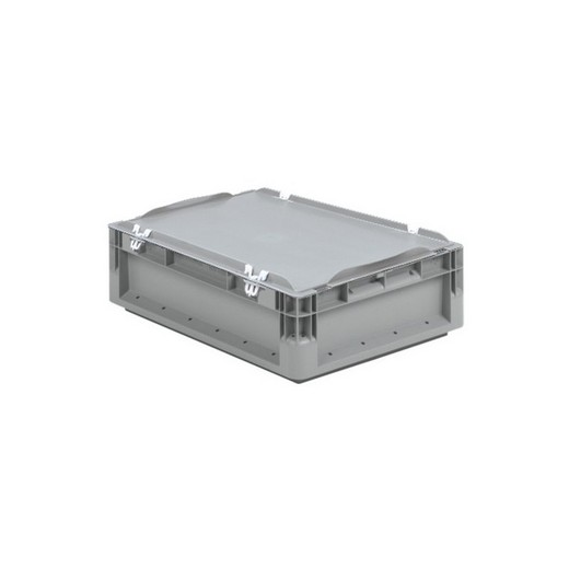 "Looking: 16""L x 12""W x 09""H ELB Lightweight Straight-Wall Container with Hinged Lid with Clips 